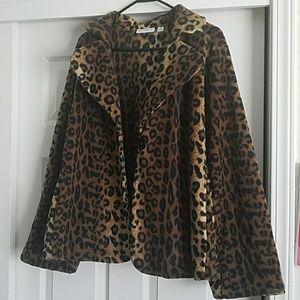 Susan Graver Jackets & Coats - Wild Ride Leopard Cloak