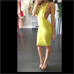 NEON LIME GREEN/ YELLOW Dress NEW WITH TAGS