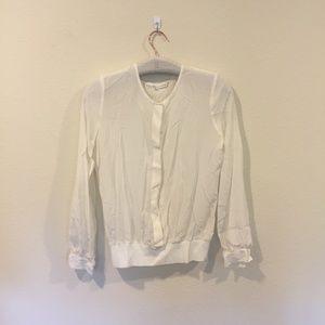 Trina Turk white button down white blouse