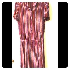Vintage dress with stripes tailor-made