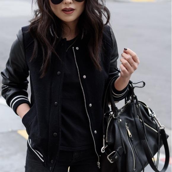 2cd2538ed Zara Varsity Jacket - Black