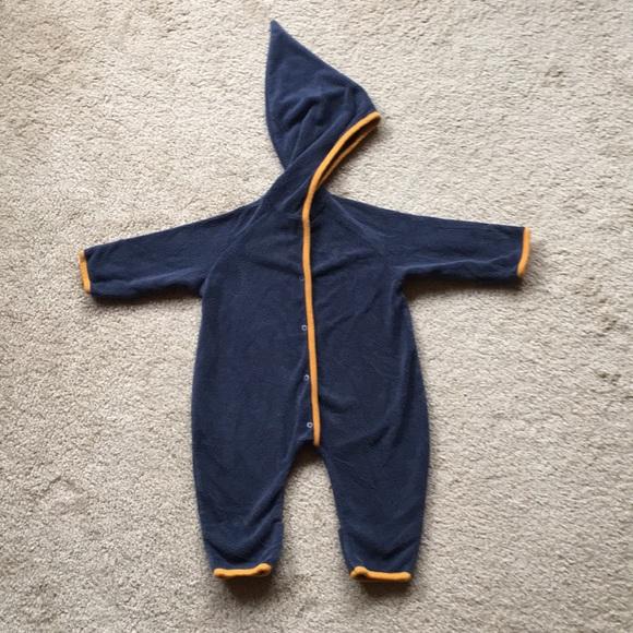 b127edfd5 Zutano Cozie Elf Fleece Suit Grey with orange trim.  M_5a25a15a36d594f9670d53ed