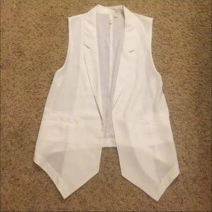Frenchi white blazer vest