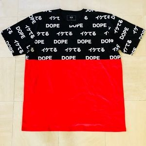 Loose Translation Color Blocked Tee - Red