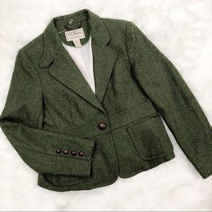 LL Bean • Moss Green Blazer