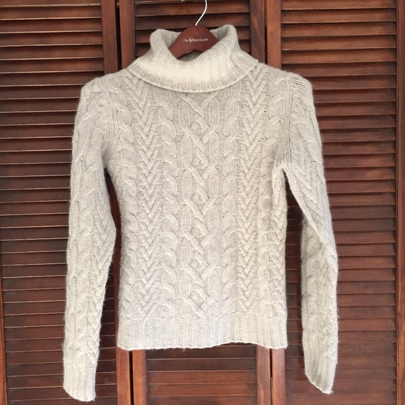 1bd93909541 SALE - Lambs Wool Blend Cable Knit Sweater