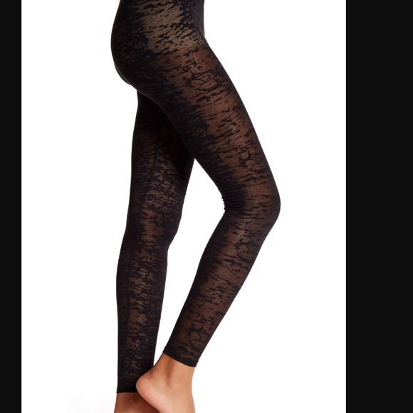 7014a23ce03b1 Tart Pants   Black Burnout Sheer Leggings Size Large   Poshmark