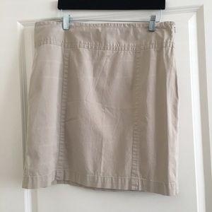 Ann Taylor Loft Size 14 Khaki Skirt