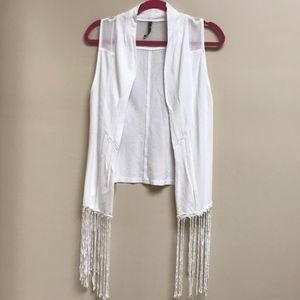 XCVI Sleeveless Fringe Vest Size S