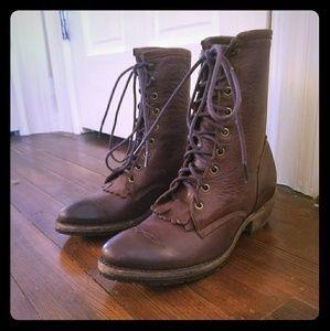Vintage lace up boots