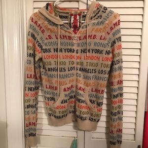 LAMB Cities Cashmere Hoodie Sweater Gwen Stefani
