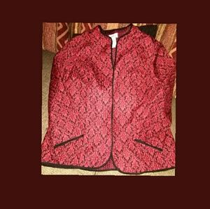 Ladies quilted open front jacket