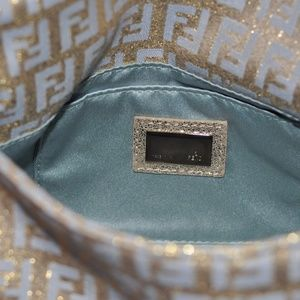 fa8b601c67 FENDI Bags - Fendi Gold   Silver Blue Metallic Mini Mamma Bag