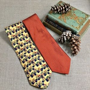 BROOKS BROTHERS Lot of 2 Handsome Silk Ties