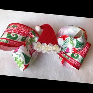 Other - Boutique Santa hat bow