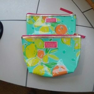 Lilly Pulitzer for Estee Lauder cosmetic bags
