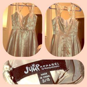 Beautiful soft gold holiday dress