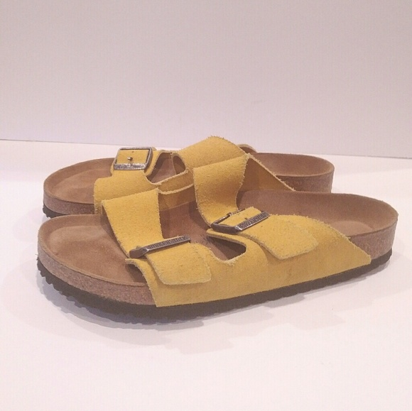 6faced9dea4 Birkenstock Shoes - Birkenstock size 41 mens 8 ladies 10 mustard yello