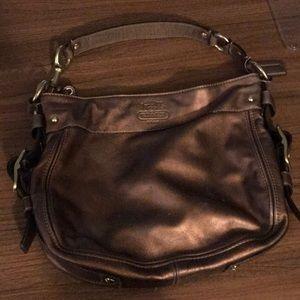 Beautiful Bronze Coach shoulder bag