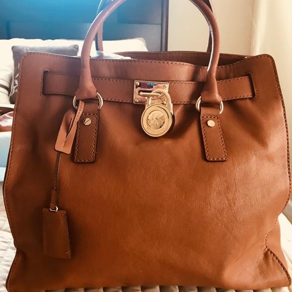 Michael Kors Hamilton Cognac purse