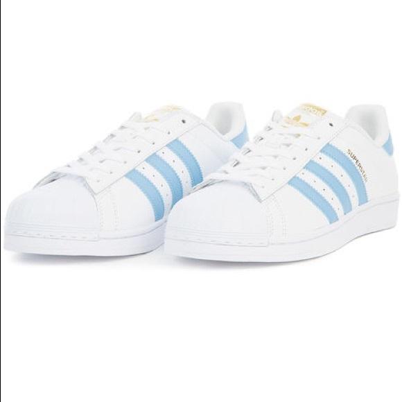 adidas superstar powder blue