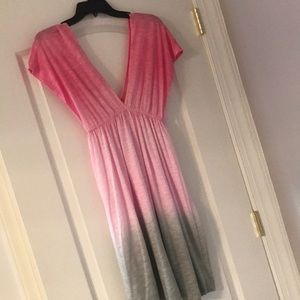 Pink and gray ombré dress NWOT