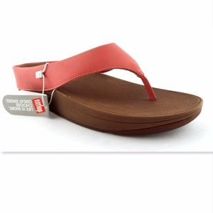New FITFLOP Lipstick Rose Thong Sandals 8
