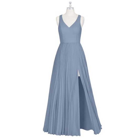 e49e02c6b87f Azazie Dresses & Skirts - Azazie Lindsey Bridesmaid Gown in Dusty Blue