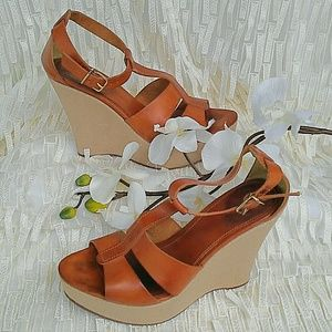 J. Crew 'Palma' Leather Wedges