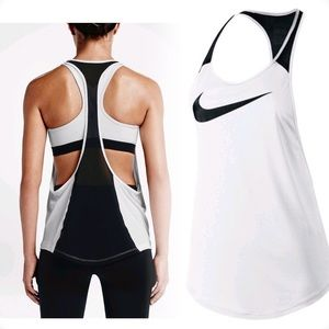 Nike Women's Flow Graphic Tank Top Open Back Mesh