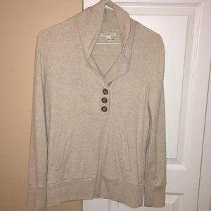 Banana Republic button up sweatshirt