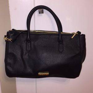 Olivia + job black leather handbag
