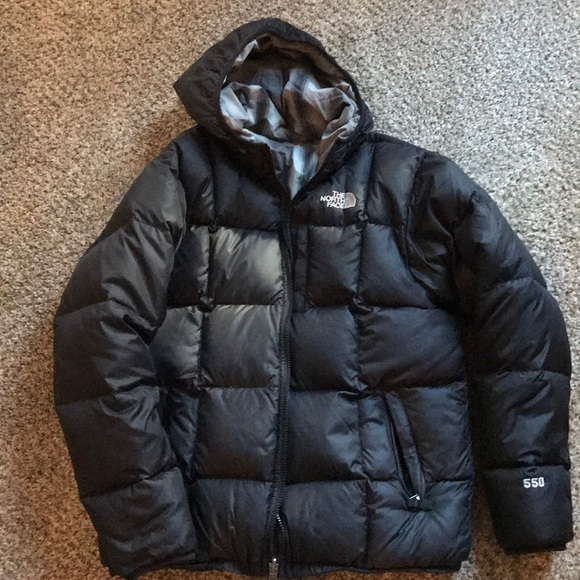 ec364500082c Boy s North Face Reversible 550 Down Jacket. M 5a25bc999818295e5c0dc44c