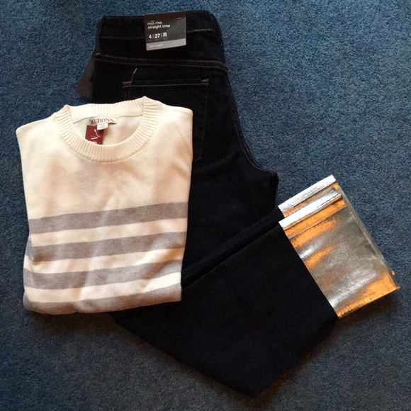 Mossimo Supply Co. Denim - Mossimo jeans size 4/27 and Merona XS sweater