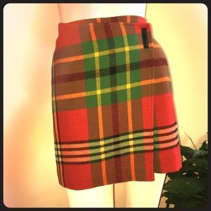 Ralph Lauren Plaid Wool Skirt