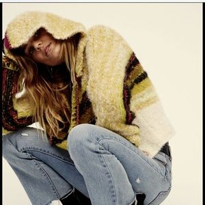Free People Oversize Thick Soft Hooded Sweater XS