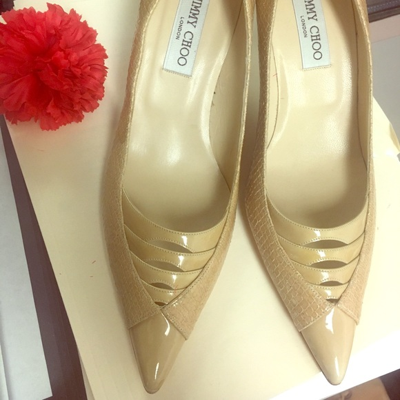 4f450551af36 Jimmy Choo Shoes - Gorgeous nude Jimmy Choos