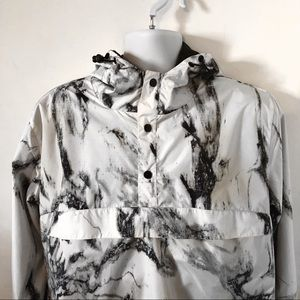 Marble Black and White Windbreaker