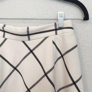 LOFT Windowpane A-line skirt