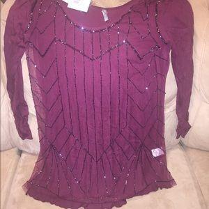 Maroon Sheer Shirt