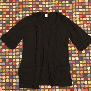 Nanette Lepore cardigan Sz M black