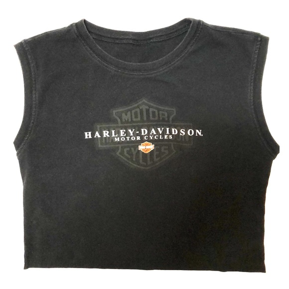 3367432755f Harley-Davidson Tops   Harley Davidson Tigard Oregon Black Crop Top ...
