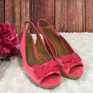 Sperry Top-Sider Pink Sequin Wedges