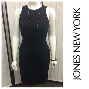 Black Lined Sleeveless Dress By Jones New York