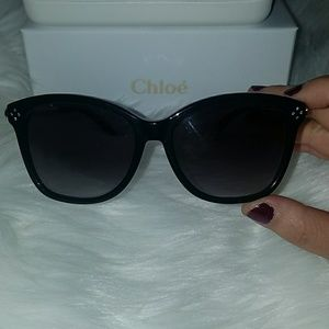 NWOT Chloe cateye sunglasses with rhinestones