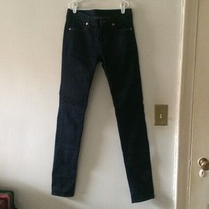 "SALE NWOT Uniqlo Dark Wash Skinny Jeans 33"" Inseam"