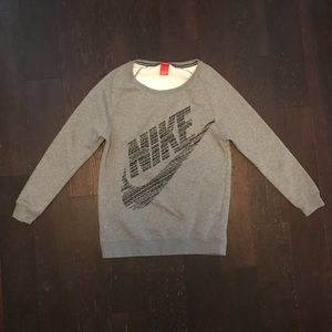 Nike Gray Wide Neck Sweatshirt