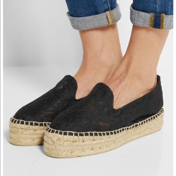 Manebi Lace Espadrille Flats cheap outlet from china for sale best prices online 074ljga