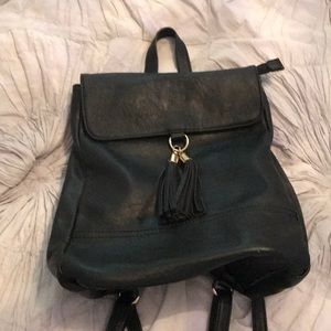 Black Vegan leather Sole Society backpack