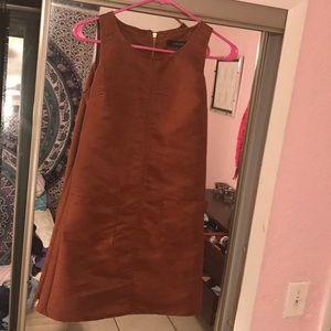 Brown velvety dress